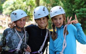 Camp Girls CLimbing and Goofy