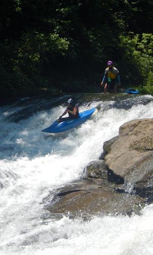 NC Green River Kayak kid