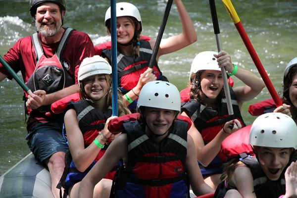 Camp Rafting Kids Jubilant