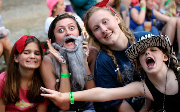 Costumes and Silliness at costume campfire