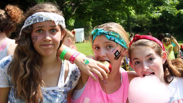 Camp Girls dressed as pirates