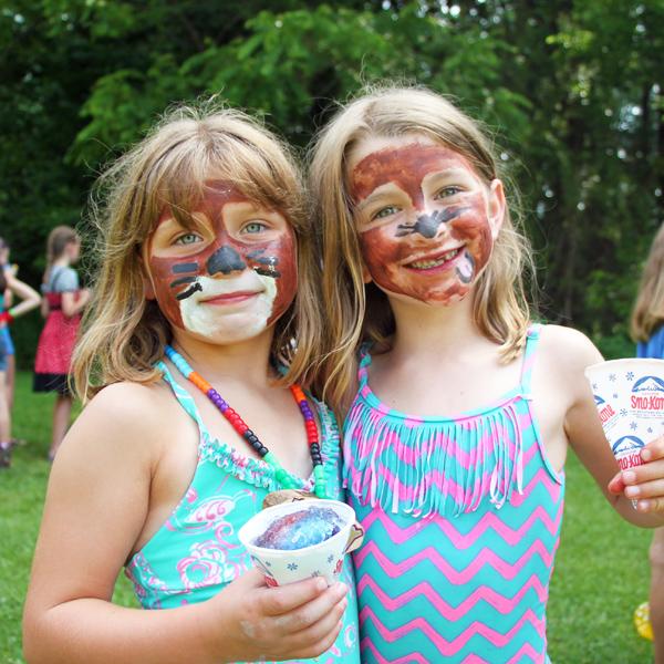 Pirate Girls friends at camp