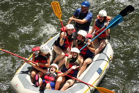 Camp Whitewater Rafting Laughter