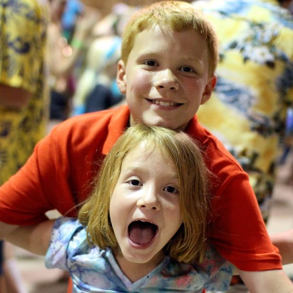 Brother Sister Pair at Camp Dance