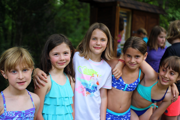 Camp Friends Ready to Swim