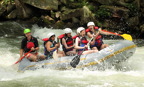 Girls Whitewater Rafting
