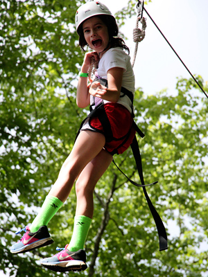 Camper Screams on zipline