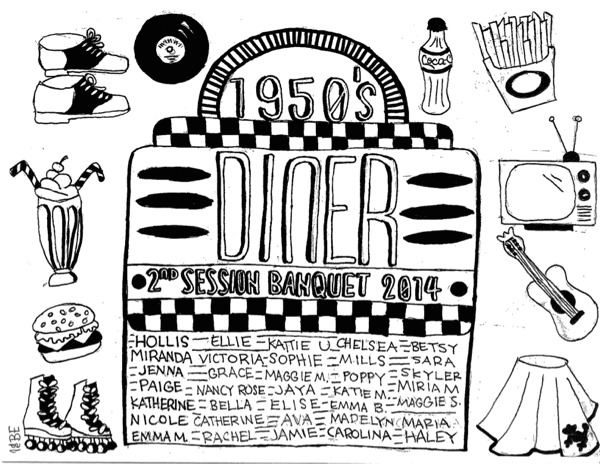 Fifties Coloring Pages