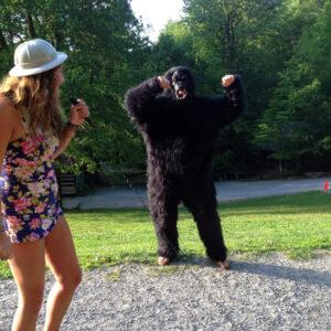Dressed a gorilla performance
