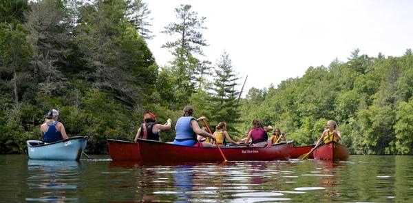 Outdoor Lake Canoeing