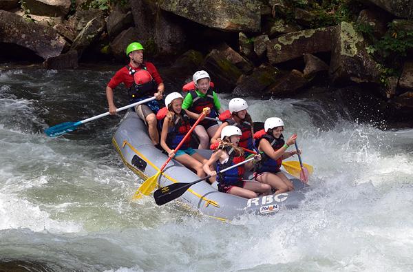 Rafting the nantahala river falls