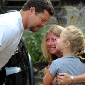 Parents reunite with camp girl
