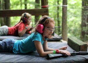 Riflery Ready Girl at Camp