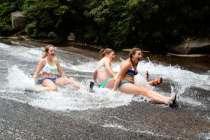 Sliding Rock NC Girls