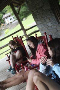 Friendship Bracelets on the Porch