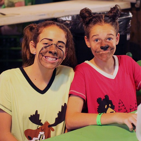 Girls dressed as animals