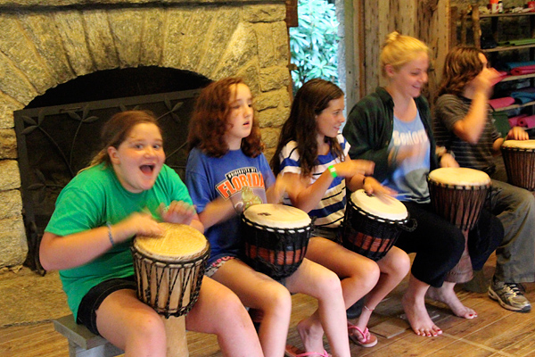 Camp Drumming Circle