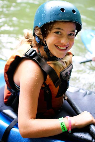 Summer Camp Kayaker Girl