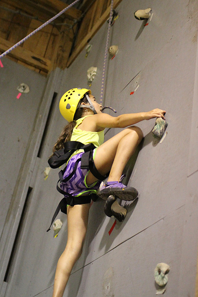 Child Wall Rock Climbing
