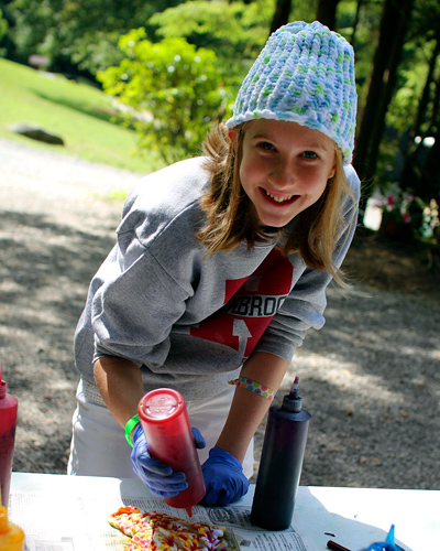 Tie Dye Craft Camp Girl