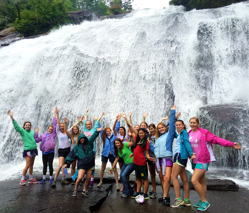 Teen Camp Girls at High Falls