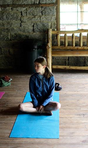 Camp Lodge Yoga Girl