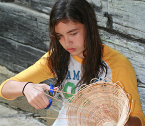 Basketry Camper Girl