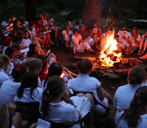 Camp Fire Singing