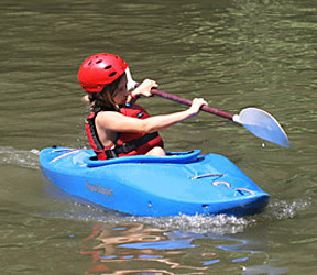 Kayak Kid Paddles
