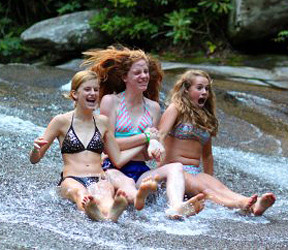 Sliding Rock Girls Scream