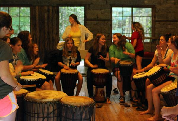 Drumming Camp kids