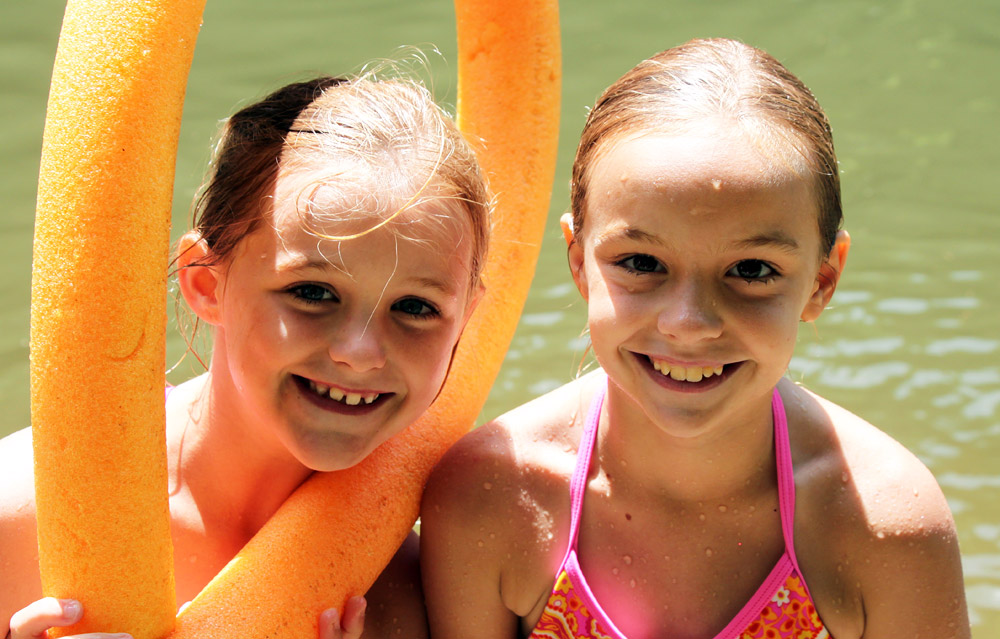Cool Swim Girls at Summer Camp