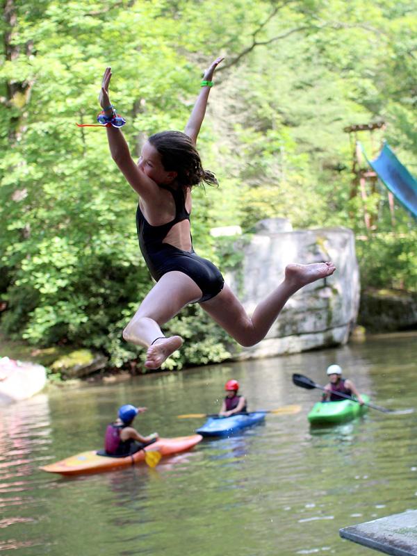 Lake Jump Kid