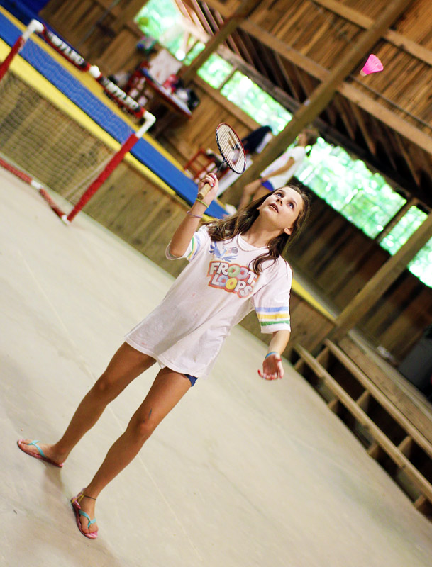 Camp badminton game