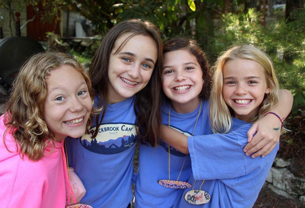 camp friends at summer camp