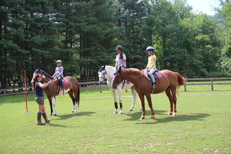 Camp Horseback Riding Class