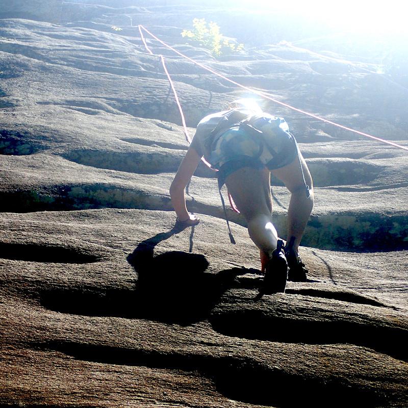 Summer Camp Rock Climbing