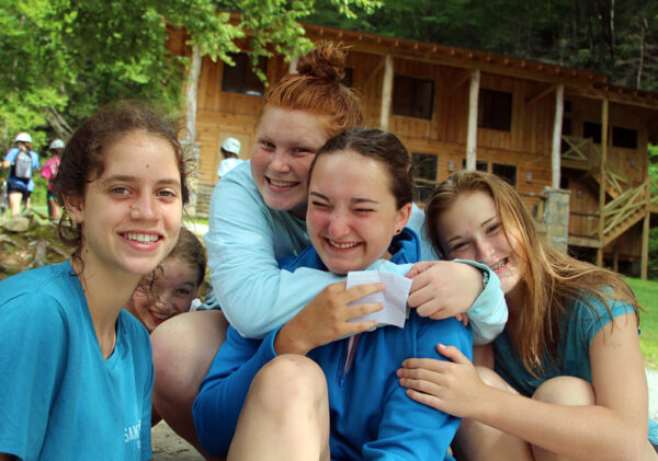 Camp girls faces buddies