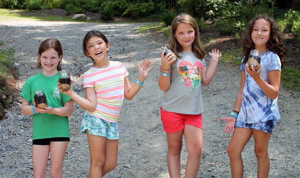 Girls summer camp kids