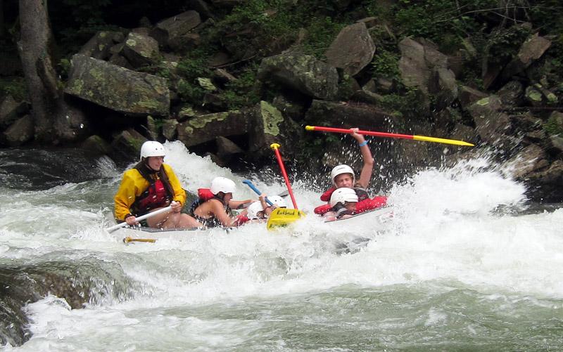 Rafting crazy Rapid
