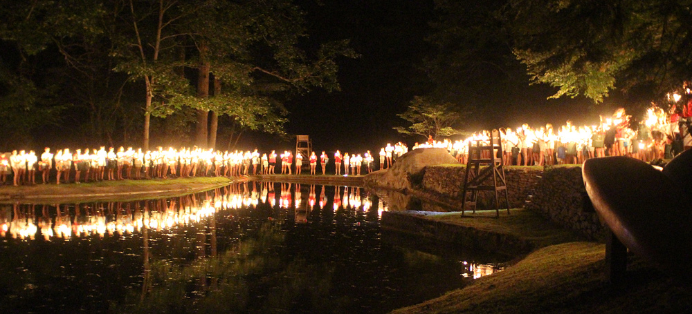 Final Campfire Lake Procession