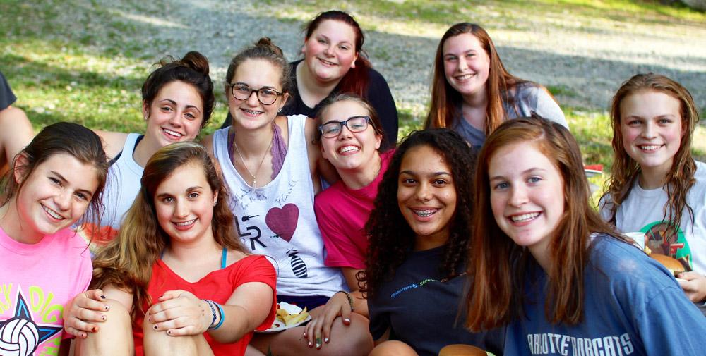Happy Teen Camp Girls