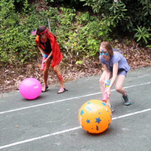 water squirt ball relay game
