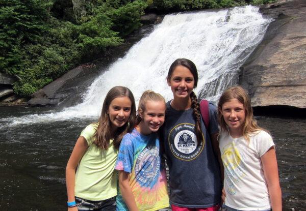 Waterfall Campers Hiking
