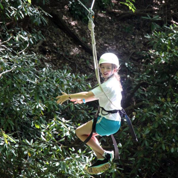 Zipline Camper Girl