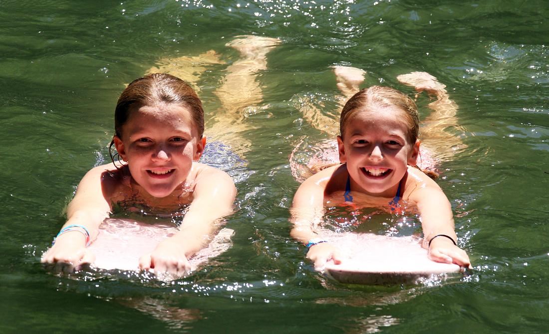 Camp Swimming girl pair