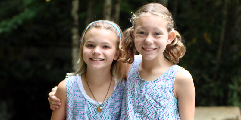 Twin day at summer camp