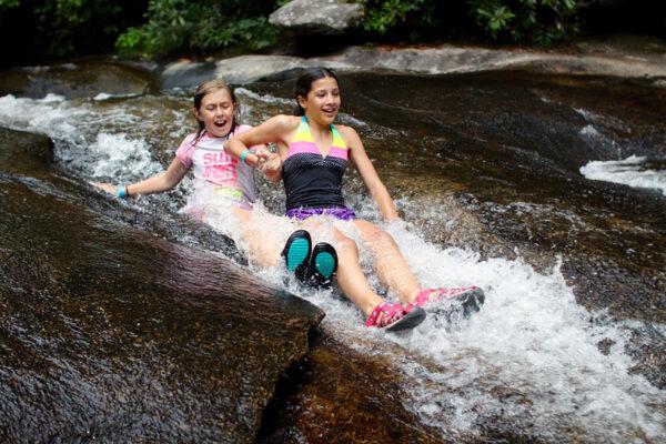 Sliding Rock Girls