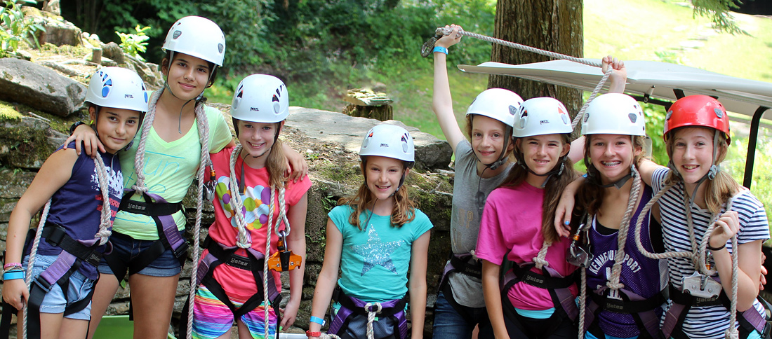Zip Line Camp Kids