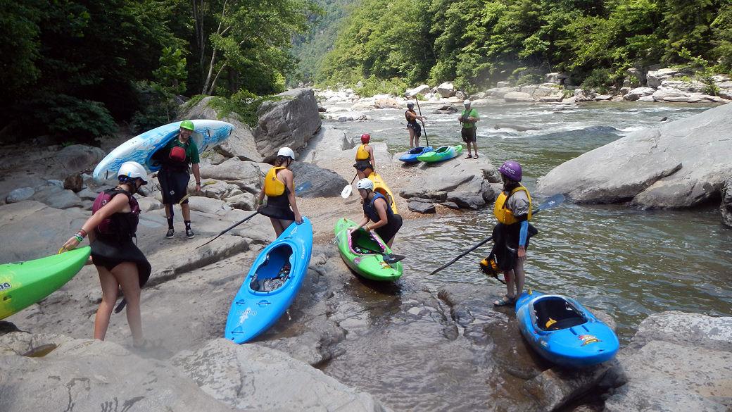 Girls Kayak Instruction